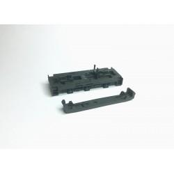 Rahmen und Bodenplatte T334 Diesellok grau